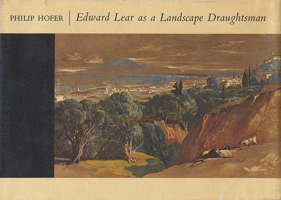 Cover: Edward Lear as a Landscape Draughtsman, from Harvard University Press