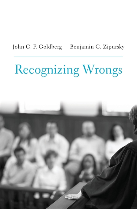 Cover: Recognizing Wrongs, from Harvard University Press