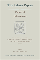 Cover: Papers of John Adams, Volume 20: June 1789 – February 1791