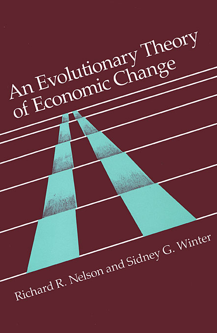 Cover: An Evolutionary Theory of Economic Change, from Harvard University Press