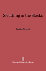 Cover: Sleuthing in the Stacks