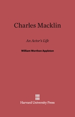 Cover: Charles Macklin: An Actor's Life
