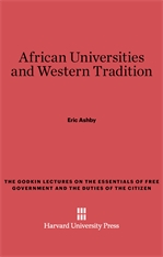 Cover: African Universities and Western Tradition in E-DITION