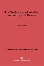Cover: The Testament of Werther in Poetry and Drama