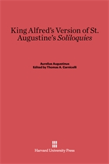 Cover: King Alfred's Version of St. Augustine's <i>Soliloquies</i>