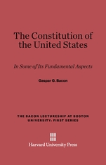Cover: The Constitution of the United States: In Some of its Fundamental Aspects