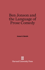Cover: Ben Jonson and the Language of Prose Comedy