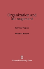 Cover: Organization and Management: Selected Papers