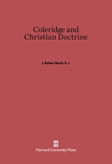 Cover: Coleridge and Christian Doctrine