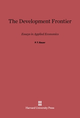 Cover: The Development Frontier: Essays in Applied Economics