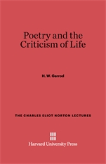 Cover: Poetry and the Criticism of Life