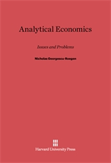 Cover: Analytical Economics: Issues and Problems