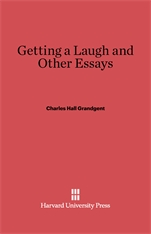 Cover: Getting a Laugh and Other Essays