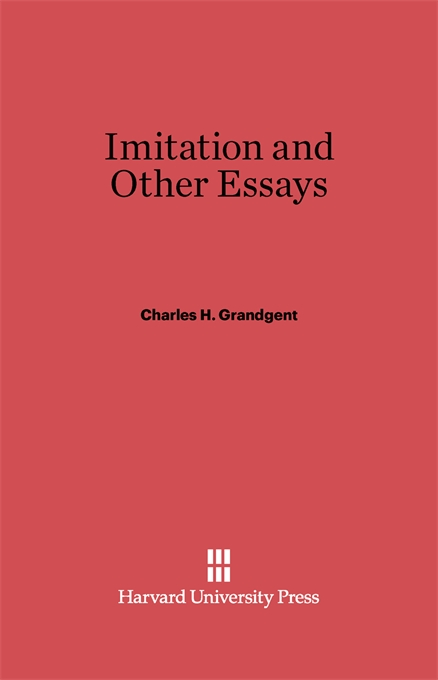Cover: Imitation and Other Essays, from Harvard University Press