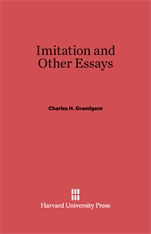 Cover: Imitation and Other Essays