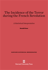 Cover: Incidence of the Terror during the French Revolution in E-DITION