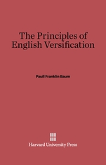 Cover: The Principles of English Versification