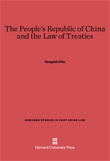 Cover: The People's Republic of China and the Law of Treaties