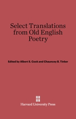 Cover: Select Translations from Old English Poetry in E-DITION
