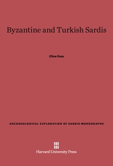 Cover: Byzantine and Turkish Sardis