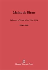 Cover: Maine de Biran: Reformer of Empiricism, 1766–1824