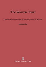 Cover: The Warren Court: Constitutional Decision as an Instrument of Reform