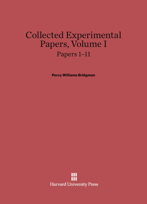 Cover: Collected Experimental Papers, Volume I: Papers 1–11, from Harvard University Press