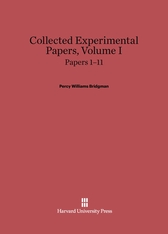 Cover: Collected Experimental Papers, Volume I: Papers 1–11