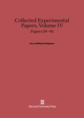 Cover: Collected Experimental Papers, Volume IV: Papers 59–93