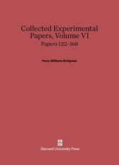 Cover: Collected Experimental Papers, Volume VI: Papers 122–168