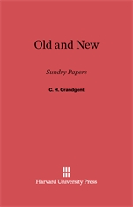 Cover: Old and New: Sundry Papers