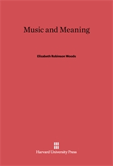 Cover: Music and Meaning