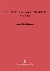 Cover: Tottel's Miscellany (1557–1587), Volume II: Revised Edition