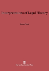 Cover: Interpretations of Legal History