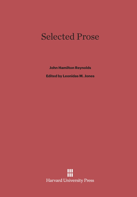 Cover: Selected Prose, from Harvard University Press