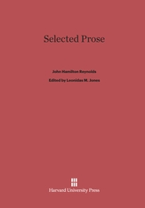 Cover: Selected Prose