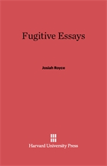 Cover: Fugitive Essays