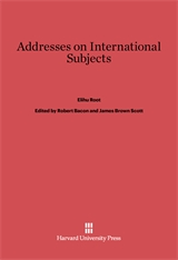 Cover: Addresses on International Subjects