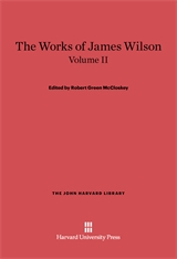 Cover: The Works of James Wilson, Volume II