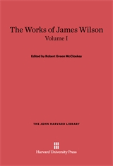 Cover: The Works of James Wilson, Volume I