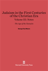 Cover: Judaism in the First Centuries of the Christian Era: The Age of the Tannaim, Volume III