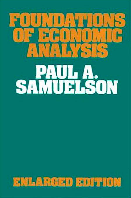 Cover: Foundations of Economic Analysis: Enlarged Edition, from Harvard University Press