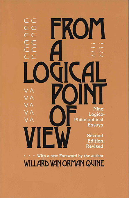 Cover: From a Logical Point of View: Nine Logico-Philosophical Essays, Second Revised Edition, from Harvard University Press