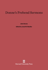 Cover: Donne's Prebend Sermons