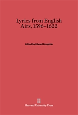 Cover: Lyrics from English Airs, 1596-1622