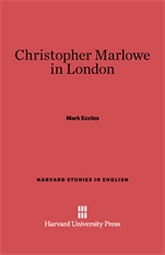 Cover: Christopher Marlowe in London