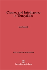 Cover: Chance and Intelligence in Thucydides
