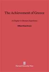 Cover: The Achievement of Greece: A Chapter In Human Experience