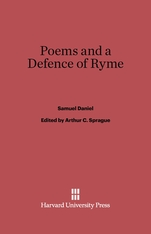 Cover: Poems and a Defence of Ryme