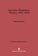 Cover: German Monetary Theory, 1905-1933